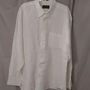 Orvis Signature Collection White Linen Men's XL LS